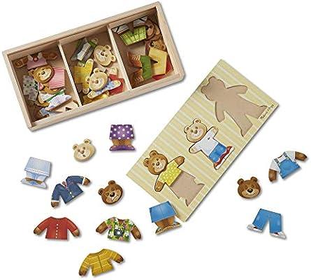 Melissa & Doug- Bear Family Dress-Up Juego Puzzle, Multicolor (13770) , color/modelo surtido: Amazon.es: Juguetes y juegos