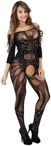 Mingfa Sexy Frauen Fischnetz Dessous Bodystocking Bodystocking Bodysuit Ouvert Unterwäsche Intim Nachtwäsche Nachtwäsche Einheitsgröße Einheitsgröße g