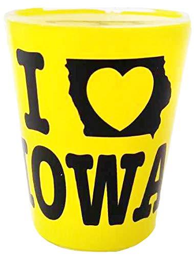 Iowa Yellow Designed State Souvenir Shot Glass]()