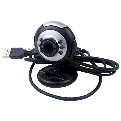 USB 2.0 50.0M PC Camera HD Webcam for Laptop Desktop Black - 3