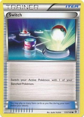 Pokemon - Switch (135/149) - BW - Boundaries Crossed - Reverse Holo