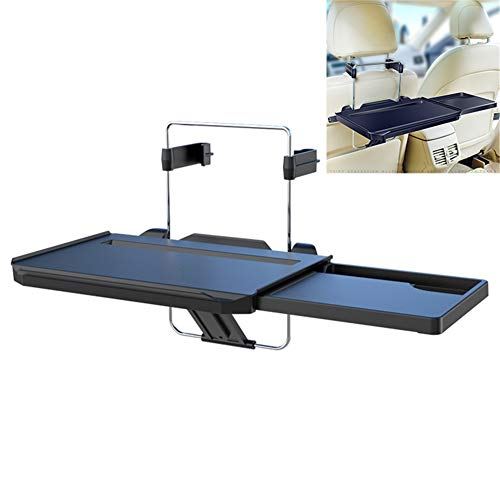 ZHOUHUAW Hanging Car Dinning Desk with Extended Pull Type Small Table, Multifunctional Laptop Trays