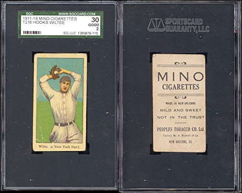 1911 mino cigarettes t216 (Baseball) Card# 72 hooks wiltse of the N.Y. nat'l Good Condition ()