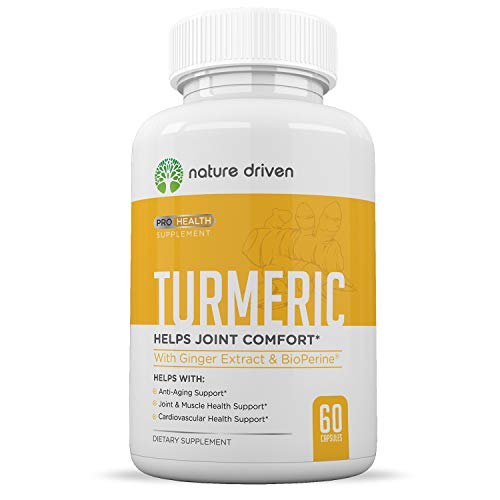 Turmeric Curcumin Supplement with Bioperine and Ginger - 95% Curcuminoids - Best Vegan Joint and Anti Inflammatory Relief - 1950mg per Dose - Veggie Caps 30 Day Supply