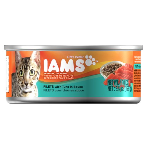 Iams Proactive Health Filets with Skipjack Tuna in Sauce, 5.5-Ounce Cans (Pack of 12), My Pet Supplies