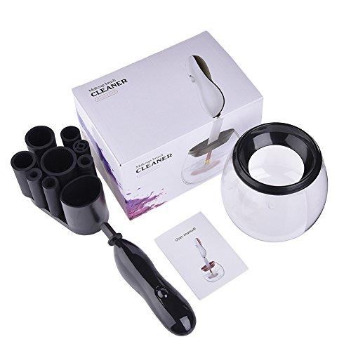 Oshide Nettoyant Pinceau Maquillage Electrique Nettoyage Automatique pour PInceaux 360 degrés de rotation automatique électrique Nettoyage en profondeur tous les Taille Maquillage Brosse Aspirateur