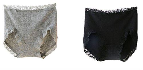 Mujer Abdomen Cintura De Encaje De Tela De Algodón Bolsa De Algodón De La Cadera De La Cadera Paquete De 4 Bragas Del Bikini Triángulo Sin Fisuras A1