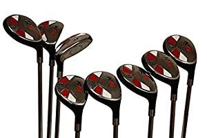 Senior Ladies Golf Clubs All Hybrid Set 55+ Years Womens Right Hand Majek Lady Full True Hybrid Complete Rescue Set #3 4,5 6 7 8 9 PW. Lady Flex Right Handed New Easy Oversized Club from PGC
