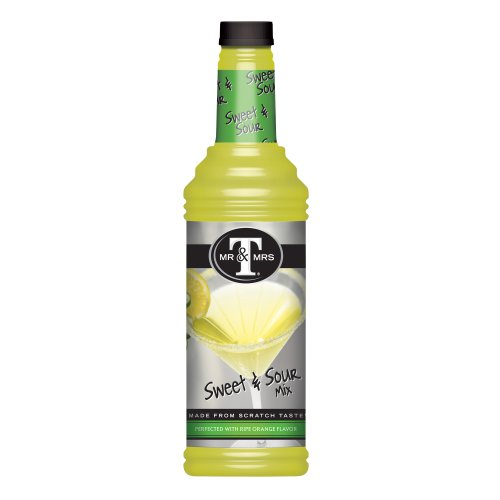 Mr. & Mrs. T Sweet And Sour Mix, 33.8-Ounce Bottles (Pack of 6) by Mr. & Mrs. T