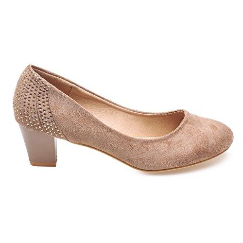 La Modeuse - Zapatos de Vestir de Material Sintético Mujer marrón
