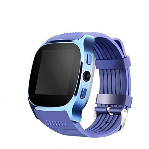 Sport Smart Watch Waterproof Fitness Blood Pressure Heart Rate Monitor Activity Tracking Support SIM and TFcard Camera for Smart Phone for Men Women (Blue) (Best Browser Football Manager)