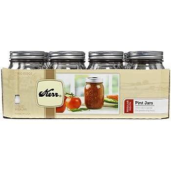 Kerr 1 Pint Canning Jar Regular Mouth 70610-00503 - 12 / CS