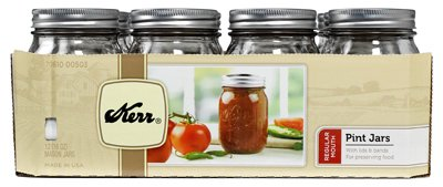 Kerr 1 Pint Canning Jar Regular Mouth 70610-00503 - 12 / CS (Kerr Jar)
