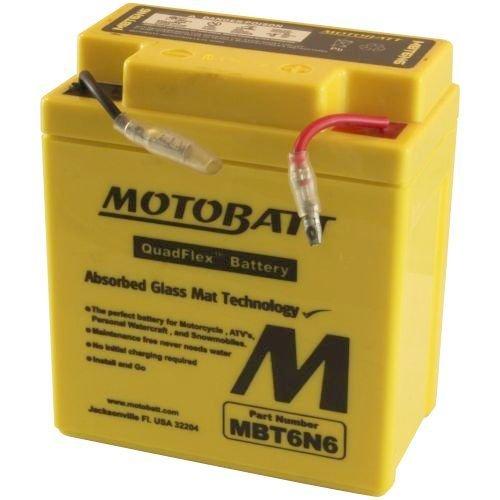 - Motobatt MBT6N6 6V 6Ah Motorcycle Battery Replaces 6N6-3B