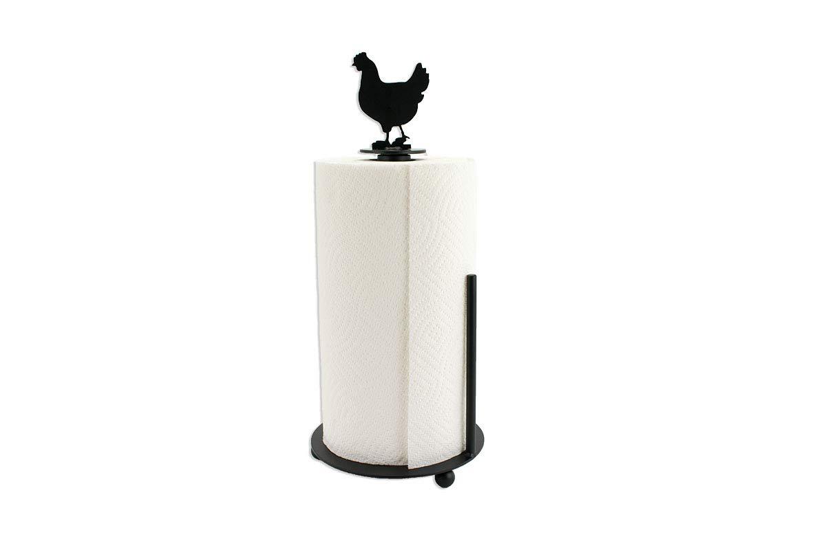 Chicken Paper Towel Holder - Farmhouse Kitchen Decor - Metal Paper Towel Holder - Kitchen Decor - Farmhouse Kitchen Decor - Standing Holder