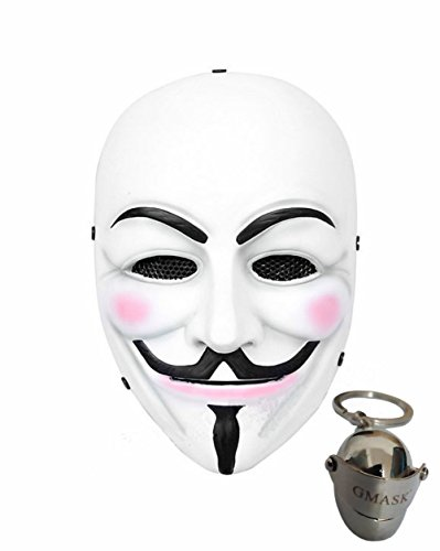 Gmasking V for Vendetta Airsoft Face Protection Paintball Mask (White) (V Is Vendetta)
