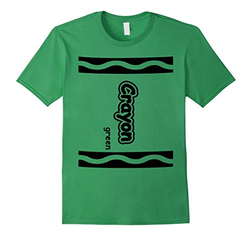 Cute Easy Group Costume Ideas (Mens Green Crayon Easy Halloween Costume Cute T-Shirt Medium Grass)
