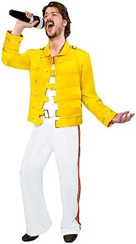 Rock Star años 80 Disfraz Chaquetas blanco amarillo weiß gelb ...