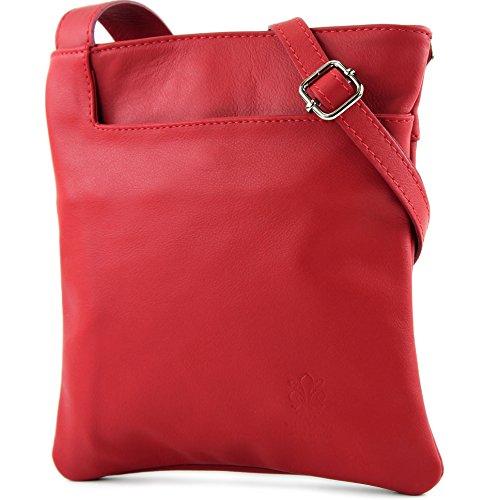 modamoda de - Made in Italy - Bolso cruzados para mujer rojo rubí