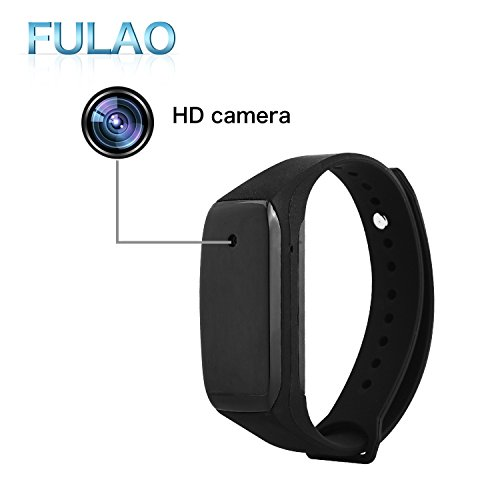 FULAO Spy Camera 1080P HD Wristband Hidden Portable Video Recorder Bracelet Camera