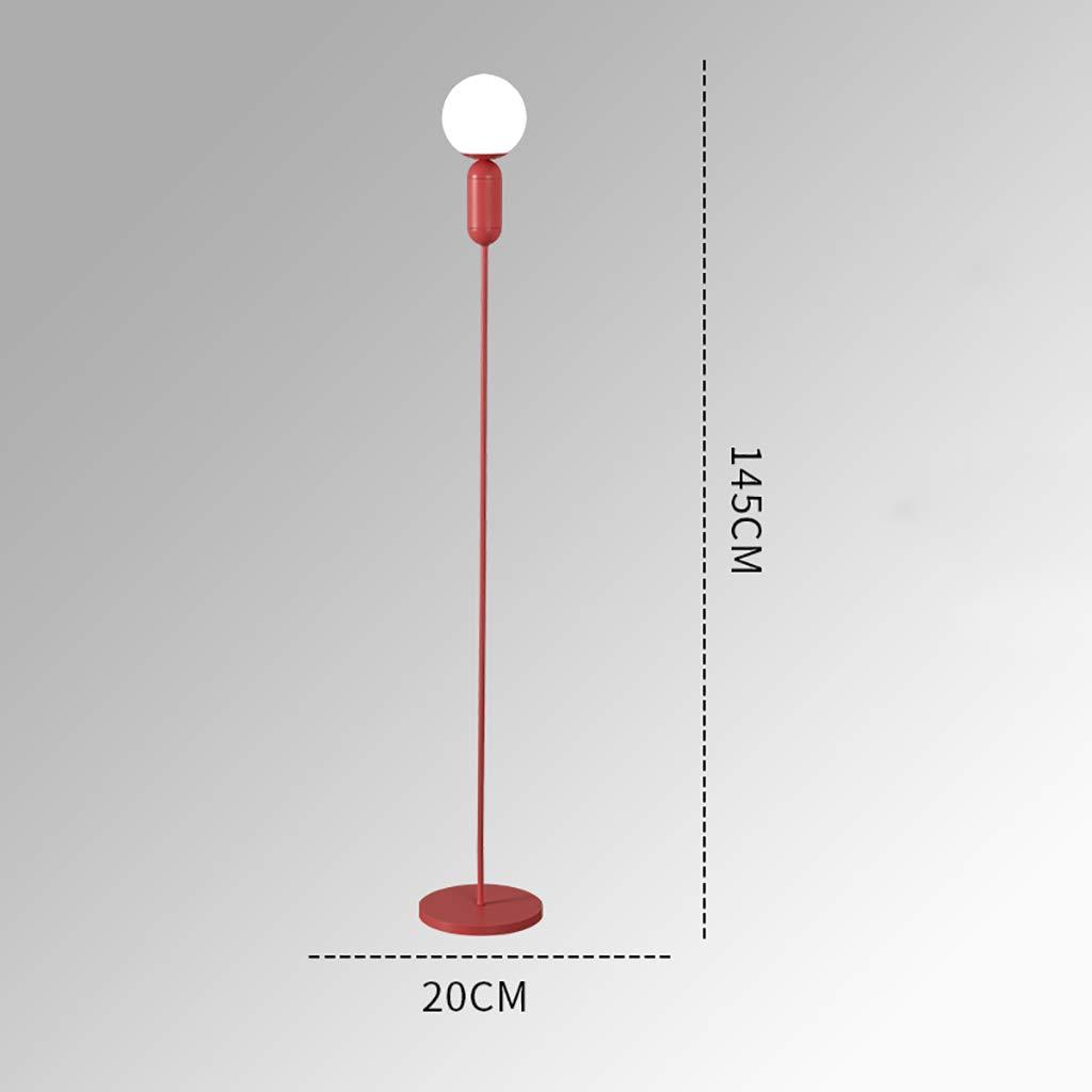 Stehlampe Stehleuchte Einfache kreative Wohnzimmer Schlafzimmer Nachttisch LED Studie Schmiedeeisen Grö ß e: 20 * 145cm (Farbe : Blau) ZJFLL