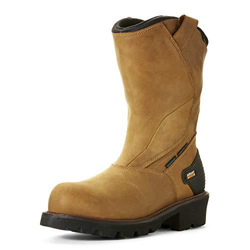 ARIAT Men's Powerline Waterproof Composite Toe Work Boot Aged Bark Size 10.5 D/Medium Us