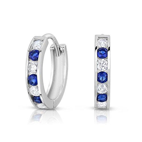 Blue Cubic Zirconia Earrings - 4