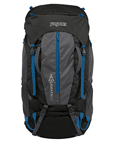 Jansport Hydration Pack - JanSport Klamath 65 67 Liter Outdoor Backpack Forge Grey/Moroccan Deep