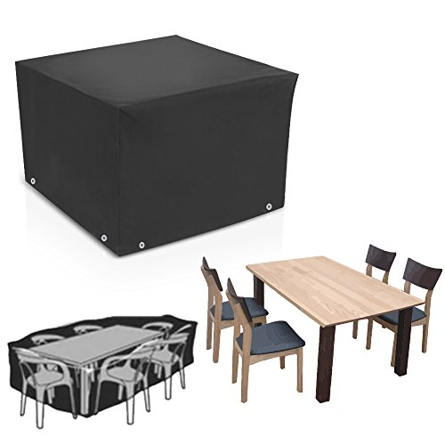 ALLOMN Cube Outdoor Patio Furniture Protective Cover Dustproof Waterproof Rain Protection for Furniture Table Chair (50