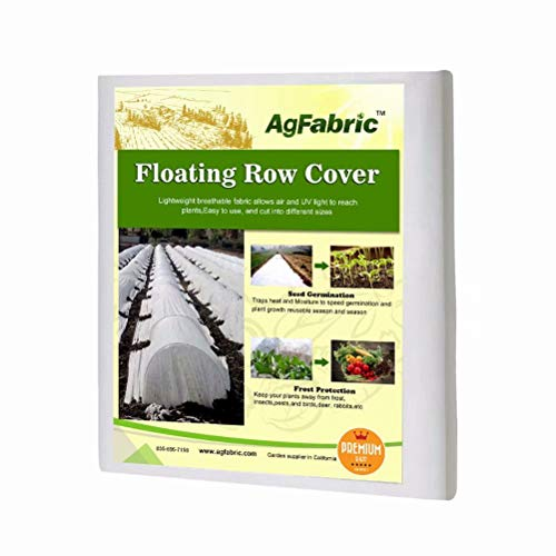 Agfabric Warm Worth Floating Row Cover & Plant Blanket, 0.55oz Fabric of 10x50ft for Frost Protection, Harsh Weather Resistance& Seed Germination