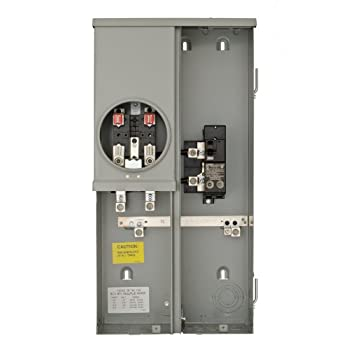 Image of Home Improvements Siemens MM0202B1200ESC 200-Amp Surface Mount Meter Main Breaker Combination with Ring Type Cover