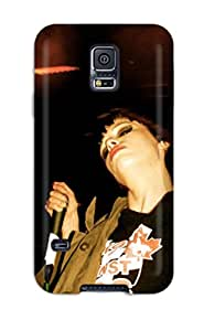 Rugged Skin Case Cover For Galaxy S5- Eco-friendly Packaging(alice Glass) Sending Free Screen Protector