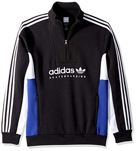 adidas Originals Men's Apian Pullover, Black/White/Active Blue, -