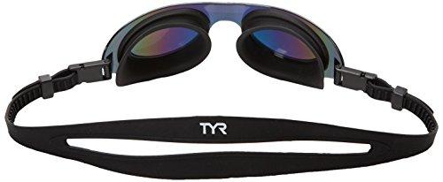 SwimShades Goggles lenti da Black unisex in Mirrored nuoto TYR Occhialini policarbonato Black Rainbow Arcobaleno TxY55p