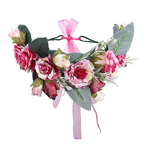 Women's Flower Crown Wedding Bridal Wreath Headband Girls