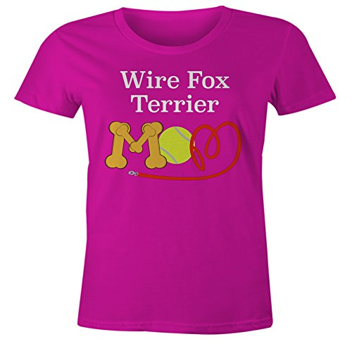Wire Fox Terrier T-shirt (Funny Wire Fox Terrier Mom Dog Breed T-Shirt - Pink Form Fitting - XL)
