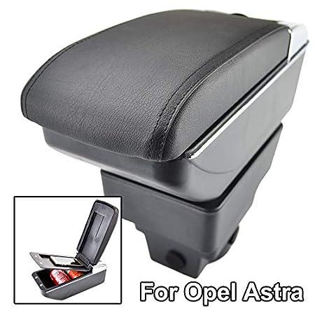 Doppio strato in pelle nera/ /Bracciolo per ASTRA J 2009-oggi centro console Storage box,