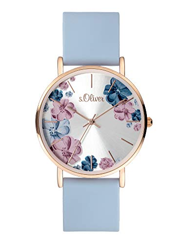 s.Oliver Women's Analogue Quartz Watch with Silicone Strap