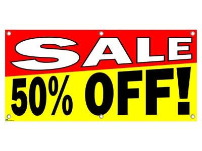 Sale 50% Percent Off - Store Retail Business Sign Banner