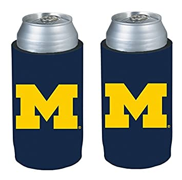 NCAA College Ultra Slim Beer Can Holder Cooler 2-Pack