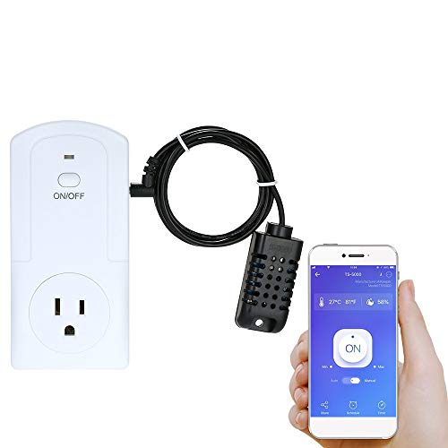 - Decdeal WiFi Smart Plug Socket, Wireless APP Remote Control Power Outlet Smart Thermostat Humidistat Timing Plug Socket Compatible with Amazon Alexa Echo Nest Home