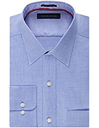 Tommy Hilfiger Men's Non Iron Regular Fit Point Collar...