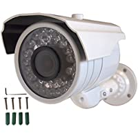 Evertech 700tvl High Resolution Camera CCTV Security Surveillance Bullet Camera 1/3 Sony Color CCD DSP Waterproof Indoor/outdoor Infrared Illumination Nightvision 2.8-12mm Zoom Varifocal Adjustable Lens 36 Leds White Color 3 Axis Mounting Bracket