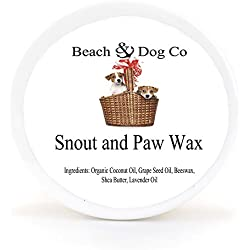 Snout and Paw Wax - For Dry Chapped Cracked Noses and Paws - All Natural and Organic (2 oz)