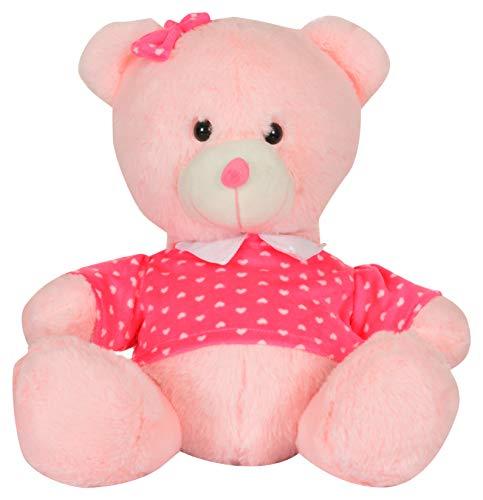 Mirada Cuddly Plush 33cm Sitting Teddy Bear  Pink Teddy