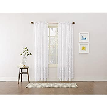 Amazon.com: Ikea Mesh Lace Curtains, 110 Inch By 98 Inch, 1 Pair, White: Home Kitchen