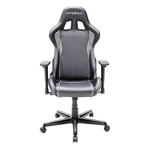 Dxracer Formula Series DOH/FH08/NG Newedge Edition Gaming Chair Ergonomic Computer Chair with pillows(Black/Grey)