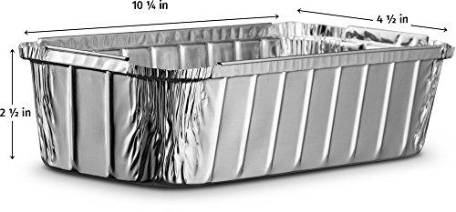 aluminum loaf pans disposable rectangle 3 pound for serving baking cooking x 842233105493 ebay. Black Bedroom Furniture Sets. Home Design Ideas