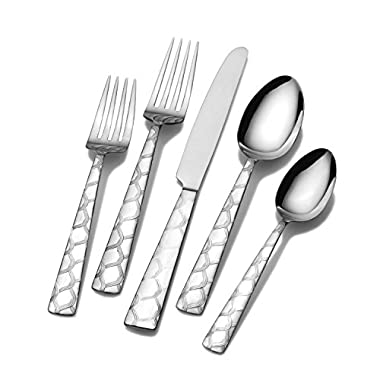 Pfaltzgraff Link 20-Piece Stainless Steel Flatware Set, Service for 4