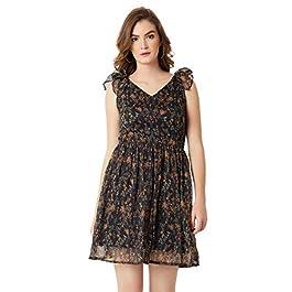 Buy Miss Chase Women's Floral Skater Mini Dress India 2021